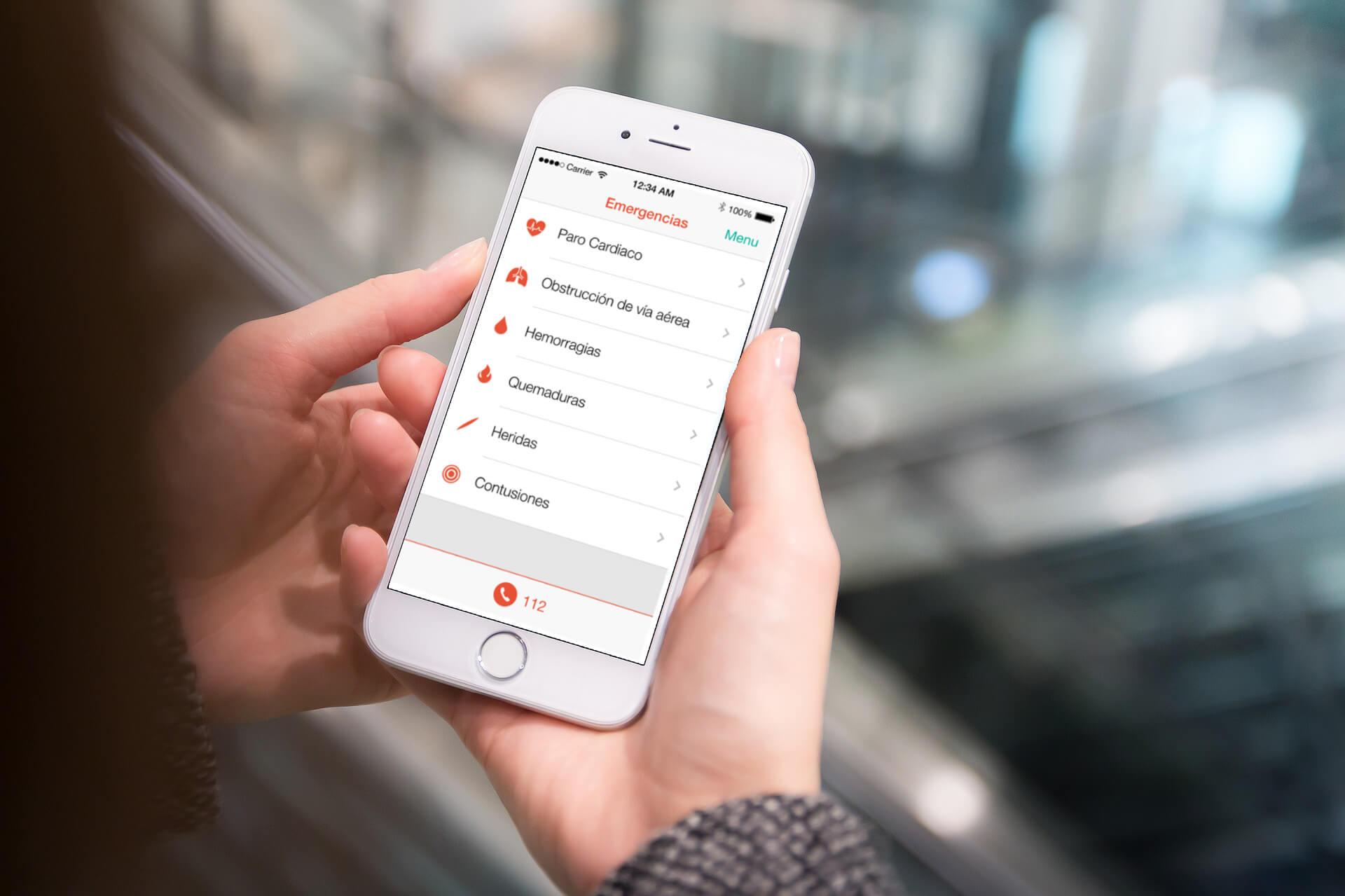 curasana app movil Formación en Primeros Auxilios